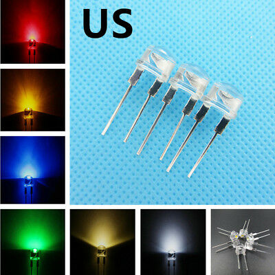 Super Bright 8mm Straw hat 0.5W 6 Colors Light-emitting Diodes Lamp LEDs to DIY