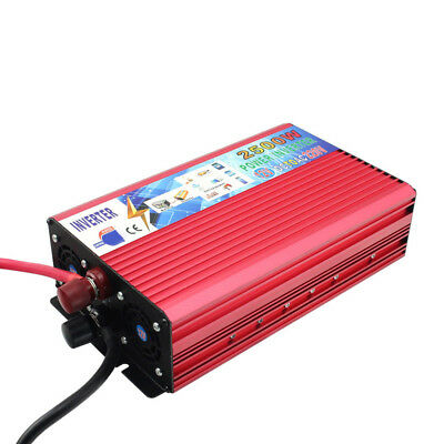 2500W Modified Sine Wave Inverter Power Inverter 12V to AC 220V For Electronic
