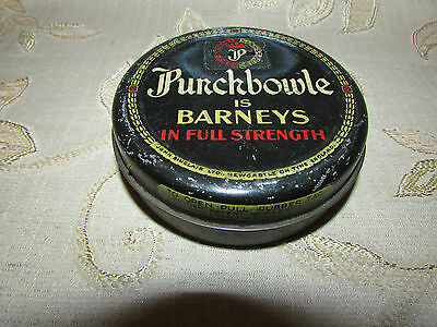 Vintage Collectable Punchbowle Is Barneys In Full Strength Tin
