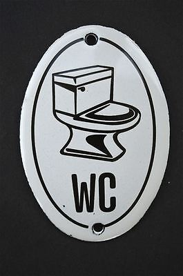 Vintage 1970's style classic small WC door plaque enamel metal door sign