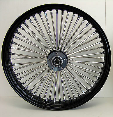 DNA MAMMOTH 52 FAT SPOKE BLACK 18x3.5 FRONT WHEEL TOURING SOFTAIL HARLEY