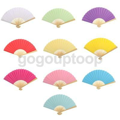 Double-sided DIY Paper Kids Creative Activity Paint Hand Fan Wedding Party Acce