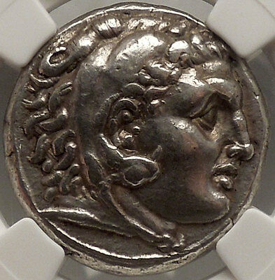 CORINTH 300BC Authentic Ancient Greek Silver Coin NGC Certifed Ch XF*Fine Style