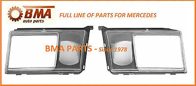 New Mercedes W124 Uro Parts Headlight Door Set Left+Right W Fog Light Lens