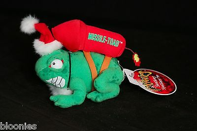 Meanies Shocking Stuffers '99 MISSILE TOAD Frog Bean Bag Plush Toy Doll NWT