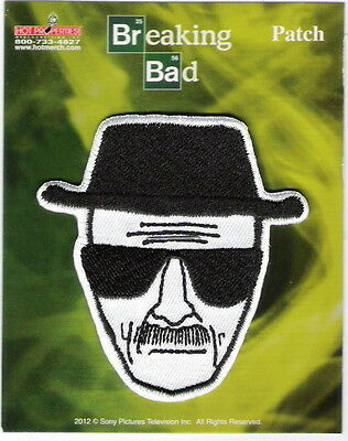 Breaking Bad Walter White Heisenberg Alias Art Image Embroidered Patch, NEW