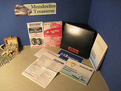 """1997 Subaru Svx Owners Manual Pkg & Case Clean Condition & """"free U.s. Shipping"""""""