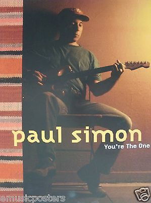 """PAUL SIMON """"YOU'RE THE ONE"""" U.S. PROMO POSTER -Soft Rock Music"""