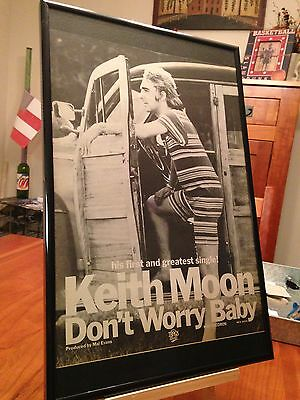 """2 Big 11X17 Framed Keith Moon (The Who) Solo Lp Album Cd & Tribute """"promo Ads"""""""