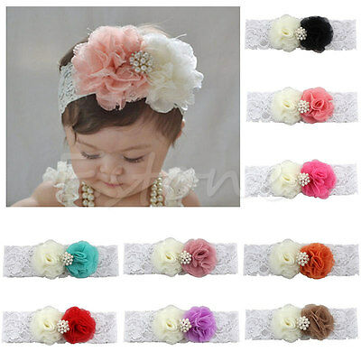 Cute Baby Kids Girl Toddler Lace Flower Headband Hair Band Headwear Accessories