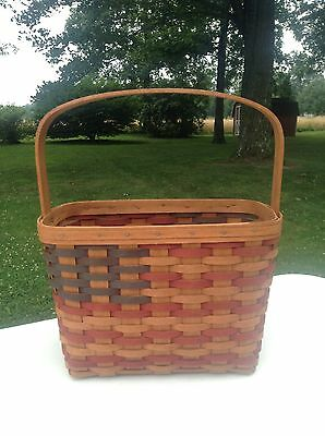 Longaberger RARE-Only 20 Made Incentive Top Sales 1989 FLAG Basket w/Signatures