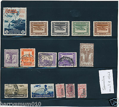 Italy stamp collection Colonies Somalia mint and used LH SA6