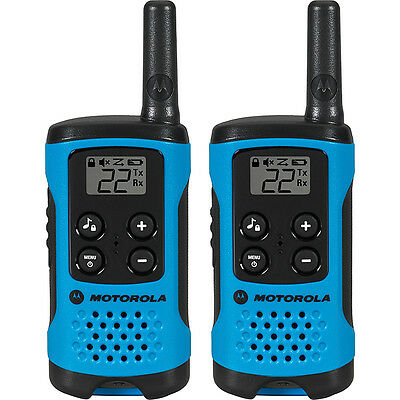 Motorola Solutions Talkabout T100 Radio - 2 Pack - Blue Electronic Accessorie