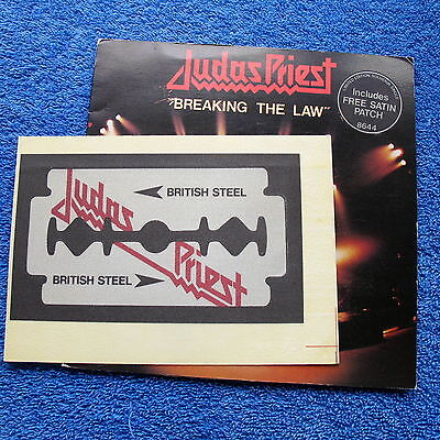 Judas Priest Breaking the Law UK 45 + Satin Patch Ultra Rare