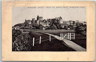 """JERSEY COFFEE Trade Card Advertising """"Windsor Castle from the North West"""" c1890s"""