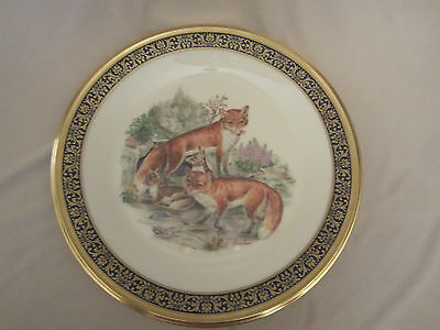 RED FOXES collector plate 1974 LENOX Woodland Wildlife BOEHM