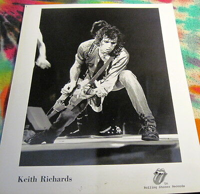 Rolling Stones - Keith Richards -  8 X 10 Photo - Rsr Promo -------  K @@ L
