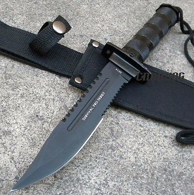 PRO SERIES Tactical Combat Hunting Survival Knife w/ Sheath [5814]