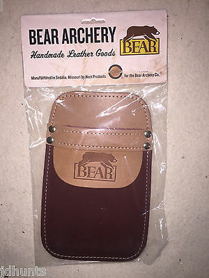 Bear Archery POCKET QUIVER  by Neet Products Brown Leather