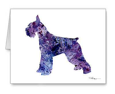 GIANT SCHNAUZER Note Cards With Envelopes
