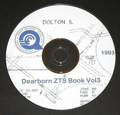 "Conrail 1993 Dearborn Division Zone-Track-Spot ""ZTS"" Maps PDF Pages on DVD"