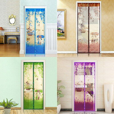 Clear Mesh Door Curtain Magnetic Fly Bug Anti Insect Mosquito Screen Protector W