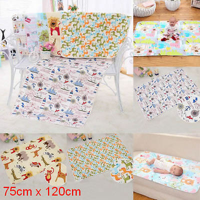 Waterproof Baby Infant Cotton Urine Mat Diaper Nappy Kid Changing Cover Pad