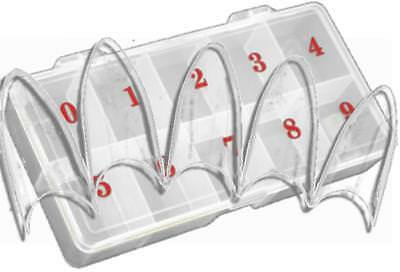 250 ~STILETTO~ French-Tips ~CLEAR~ in großer Tipbox