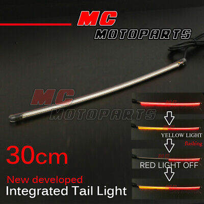 30cm Integrated Turn Tail Light Signal Light LED Strip Fit Universal Motorcycle
