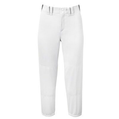 Mizuno Women's Select Belted Low Rise Fastpitch Softball Pant - White - Large