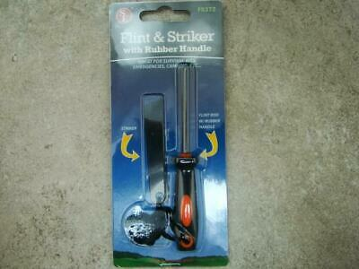 Flint and Striker with Rubber Handle, Survival, Emergencies, Camping, Rope