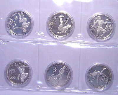 Paraguay 1972 Munich Olympics 150 Guaranies Set of 6 Silver Coins,Proof