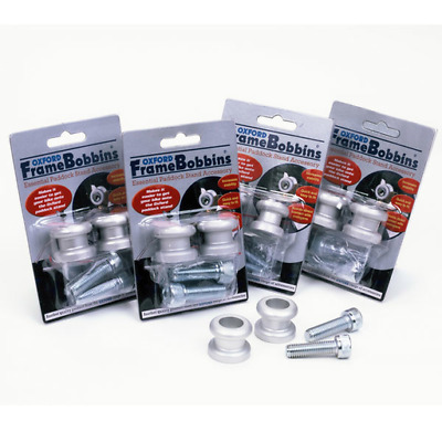 Oxford Motorcycle Paddock Stand Swing Arm Bobbins (Pair) - M8 (1.0) Silver (OF82