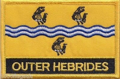 Outer Hebrides Scotland Flag Embroidered Patch Badge - Sew or Iron on