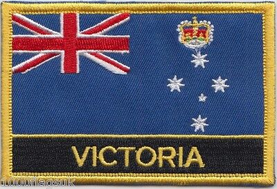 Australia Victoria State Flag Embroidered Patch Badge - Sew or Iron on