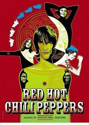 Red Hot Chili Peppers Concert Poster Uk Tour 2001 Rhcp