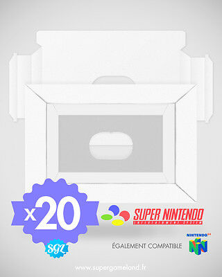 20 Cales Tray Insert Inlay Neuves Pour Boites Super Nintendo Snes N64