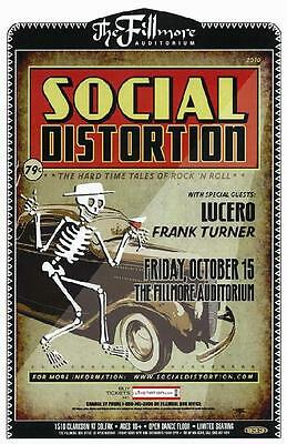 Social Distortion Lucero Denver 2010 Concert Poster
