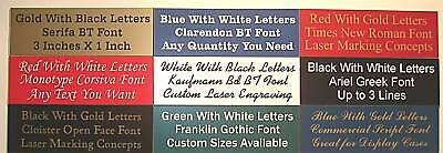 Custom Engraved Nameplate Name Plate Plaque Tag 1 X 3