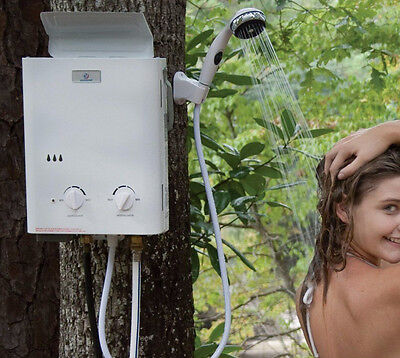 Eccotemp L5 Portable Tankless Water Heater And Outdoor Shower New