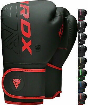 RDX Leather Grappling MMA Boxing Gloves UFC Fight Punching Sparring Training AU