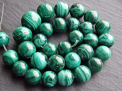 Precious Malachite Bead Semi-precious Round Loose Spacer Beads Strands 4-12mm