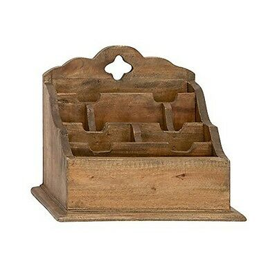 "Deco 79 45250 Wood Letter Holder 14 by 12"" NEW"