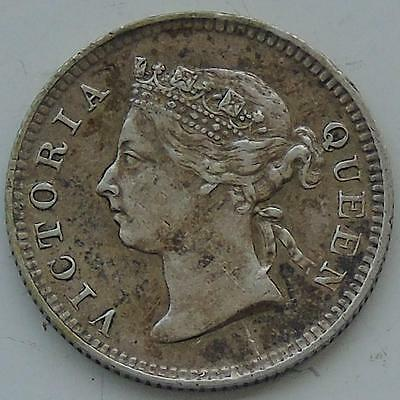 Nice Hong Kong Queen Victoria Silver 5 Cents dated 1895, British Colony KM# 5