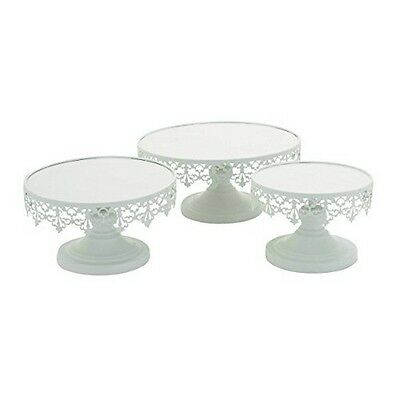 "Deco 79 96998 Metal Cup Cake Stand (Set of 3) 8""/10""/13"" NEW"