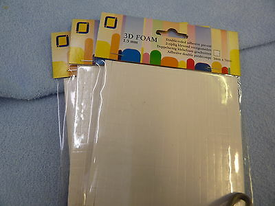 1200 Double Sided Foam Pads - Sticky Permanent Fixers Adhesive Stickers 2mm