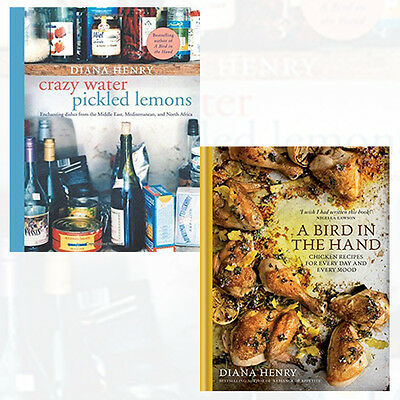 Diana Henry 2 Books Collection Set (Crazy Water, Pickled Lemons) Brand New Pack