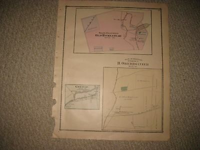 1861 SLAVE MAP MO Cassville Castle Point Cedar Hill Centralia Chaffee Charlack