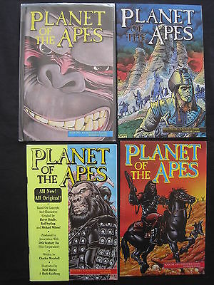 PLANET of the APES : ISSUES 1,2,3,4 of 1990 SERIES. MALIBU