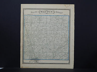 Wisconsin, Fond Du Lac County Map 1874 Waupun Township w/ Engravings J20#62